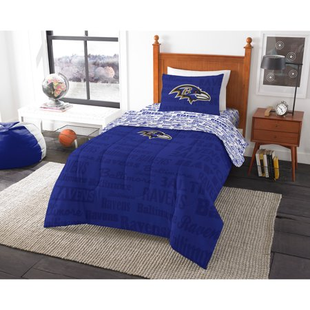 NFL Baltimore Ravens Bed in a Bag Complete Bedding Set - Malls In Baltimore