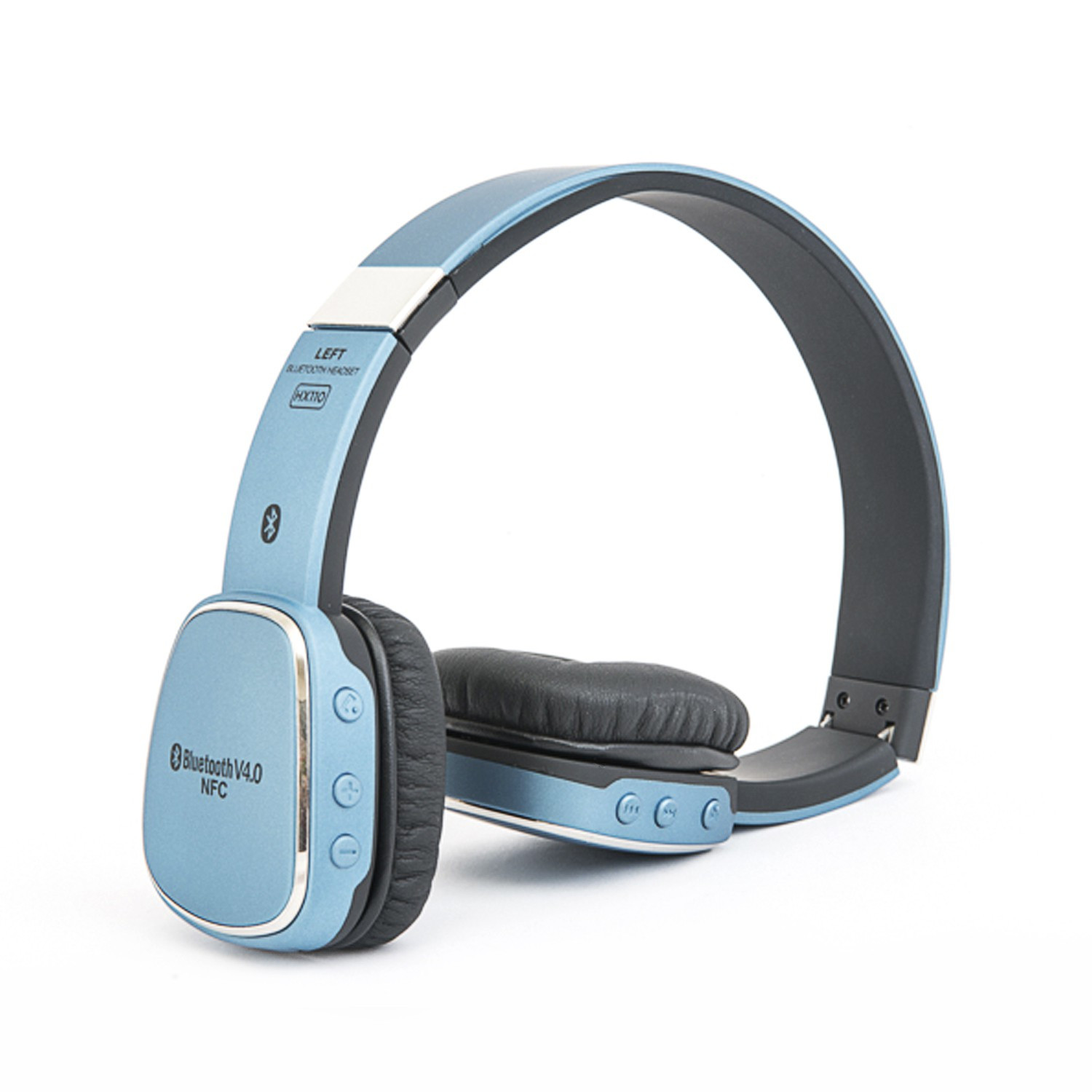 Bluetooth Headphones, Alpatronix HX110 High Performance Bluetooth Wireless Headset with NFC, Mic... (Blue)