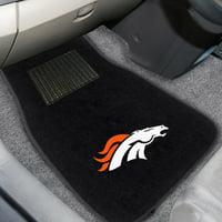 Denver Broncos 2-Piece Embroidered Car Mat Set