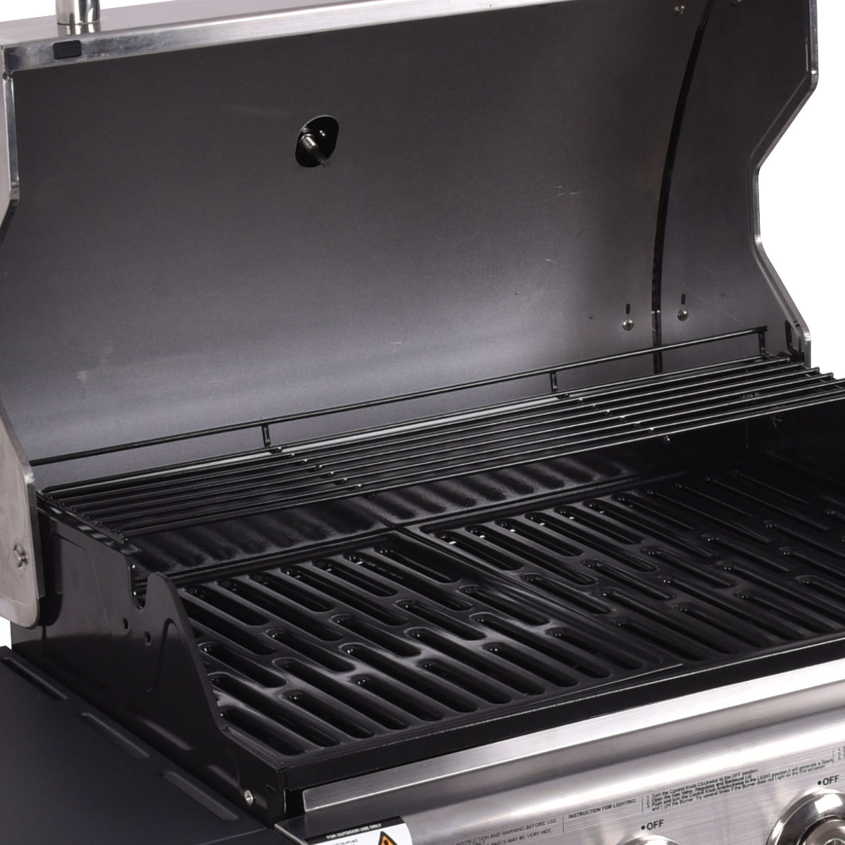 Costway 4 Burner Gas Porpane Grill Stainless Steel Outdoor Patio Cooking BBQ w/ Casters - image 7 of 9