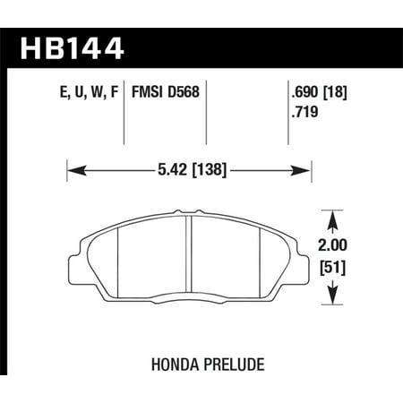 Hawk 92-96 Honda Prelude (w/o V-Tec) DTC-70 Race Front