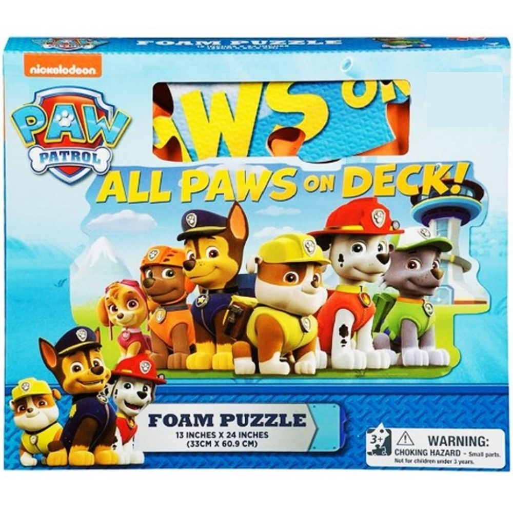 Paw Patrol 30 Piece Foam Puzzle,  Entertainment by Cardinal