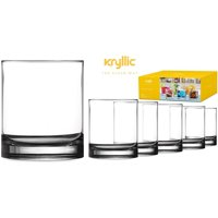 Plastic Tumbler Cups Drinking Glasses Acrylic Highball Tumblers Set of 6 Clear 14 oz Unbreakable Reusable Kitchen... by Kryllic