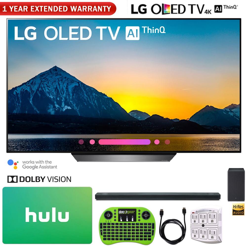 "LG OLED65B8PUA 65"" Class B8 OLED 4K HDR AI Smart TV (2018) + LG SK10Y 5.1.2-Channel Hi-Res Audio Soundbar with Dolby Atmos + Hulu $100 Gift Card + More"