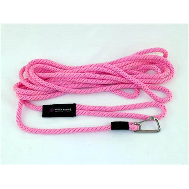 Soft Lines PSW10430HOTPINK Floating Dog Swim Snap Leashes 0.25 In. Diameter By 30 Ft. - Hot Pink