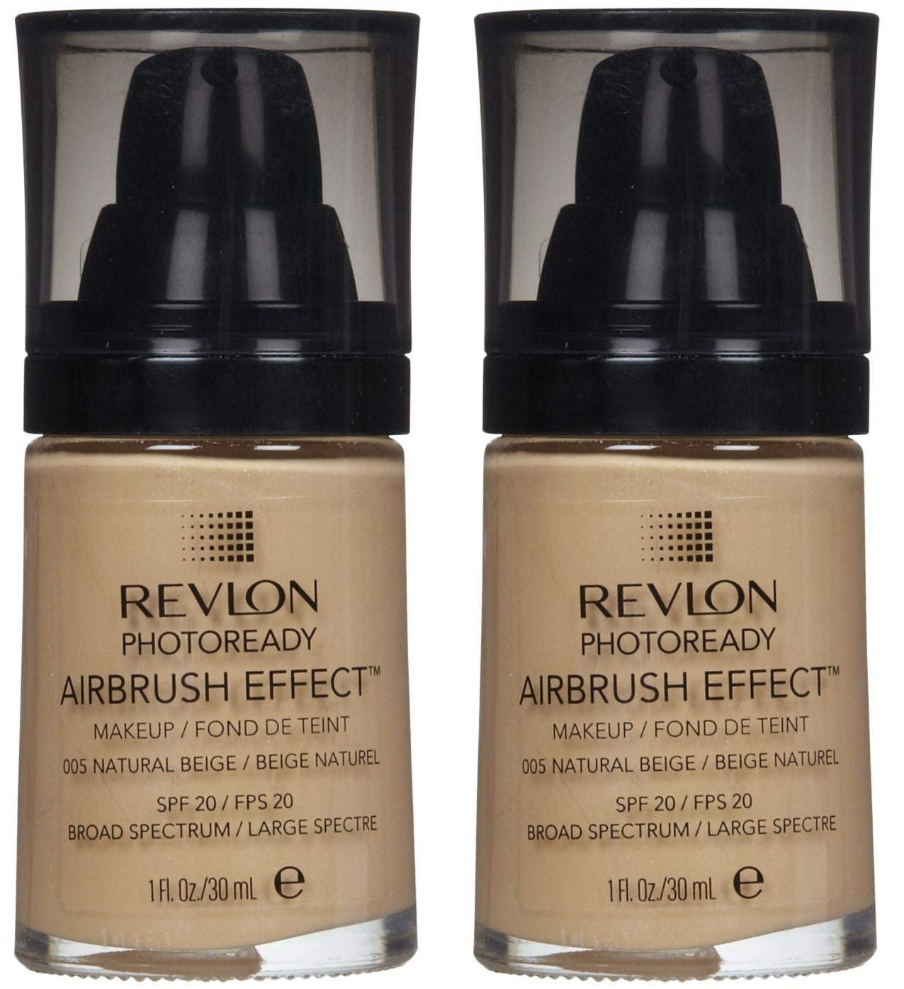 Revlon Photoready Airbrush Effect Makeup Foundation Natural Beige #005 (Pack of 2)