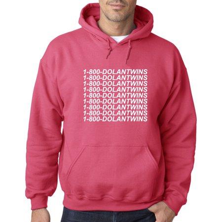 01ea90788 761 - Hoodie 1-800-DOLANTWINS Dolan Twins Hotline Bling Sweatshirt Medium  Heliconia - Walmart.com