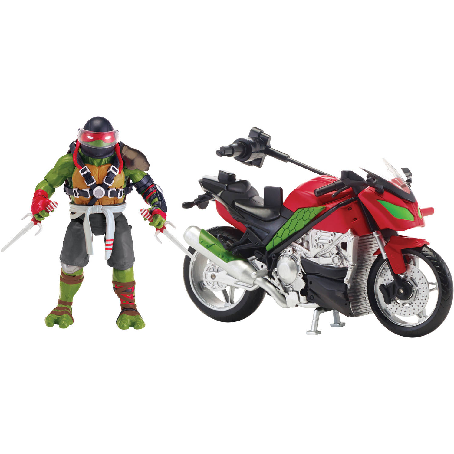 Teenage Mutant Ninja Turtles Movie II Raphael with Motorcycle