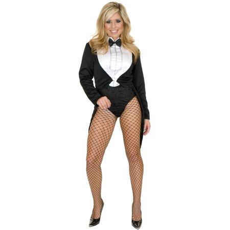 Womens  Miss Formalities Black Tuxedo With White Bodysuit Costume (Costume Black And White)