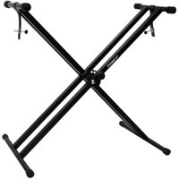 ChromaCast Heavy Duty Pro Series Double Braced X-Style Keyboard & Piano Stand with Locking Straps
