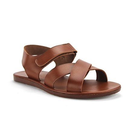 Scandro Men's 52632 Roman Gladiator Leather Strap Sandals - Mens Roman Gladiator Sandals