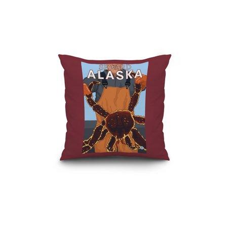 King Crab Fisherman Seward Alaska LP Original Poster 18x18 Spun Polyes