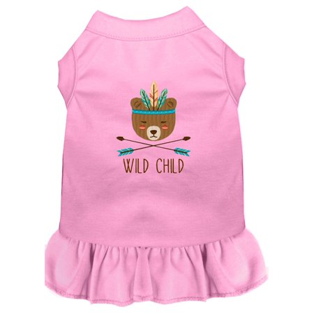 Wild Child Embroidered Dog Dress Light Pink Lg (14)