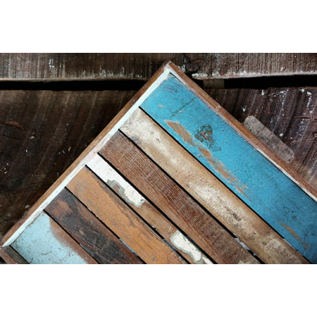 LAMINATED POSTER Painted Grunge Wooden Floor Wood Boards Old Poster Print 24 x 36