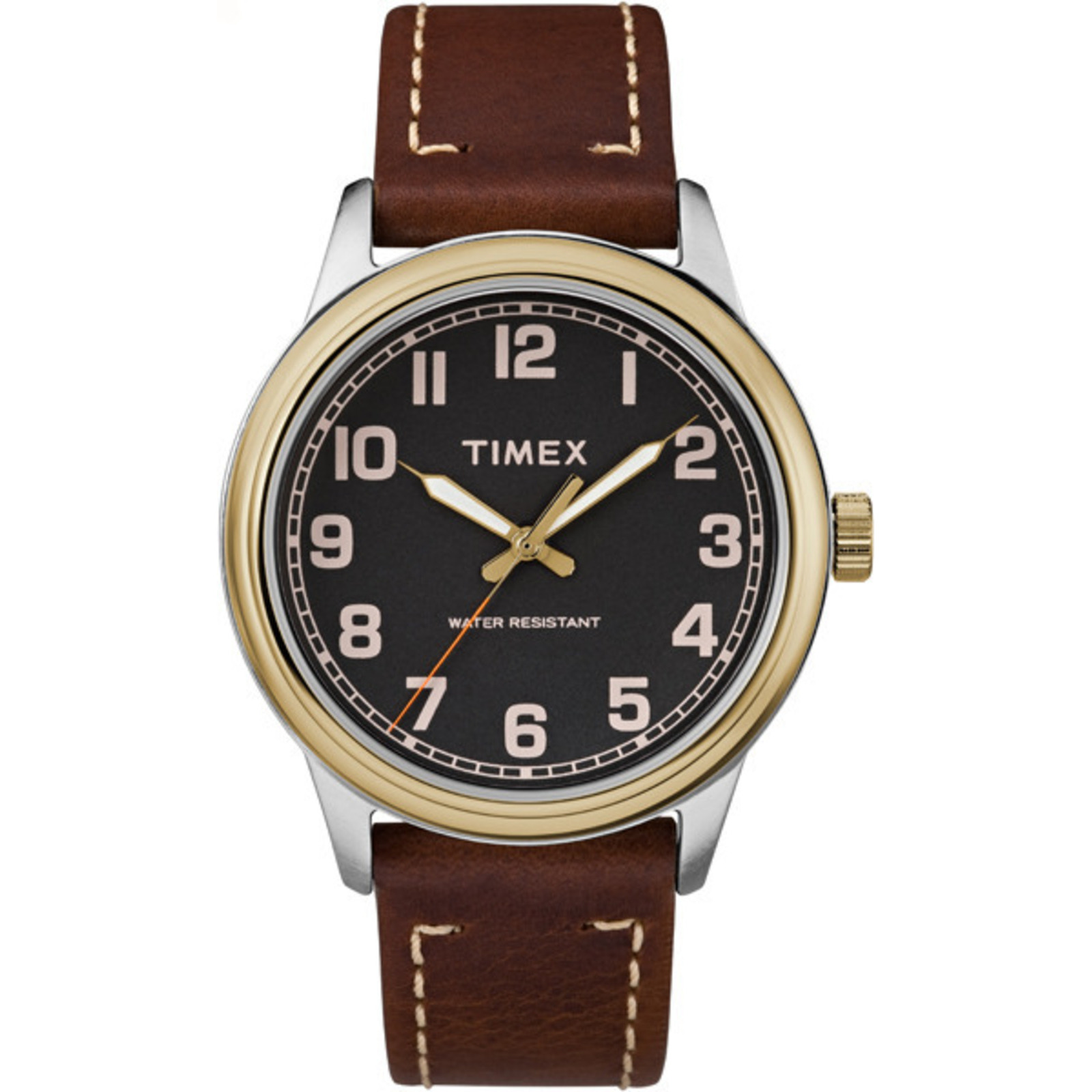 Timex Men's New England 40mm Leather Strap |Brown| Dress Watch TW2R22900