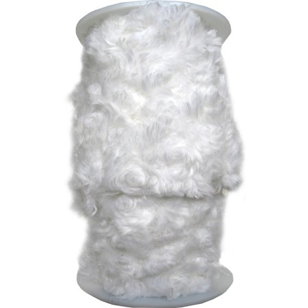 "Fur Trim 4""X6yd-White"