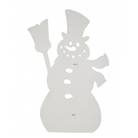 25 x 38 in. Snowman Silhouette Lawn Decoration ()