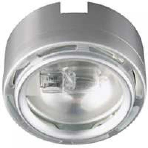 Good Earth Lighting Xenon Plug In Puck Light, Stainless Steel