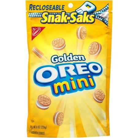 (3 Pack) Nabisco Snack-Saks Golden Mini Oreo Sandwich Cookies, 8 oz](Mini Cucumber Sandwiches)