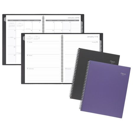 Mead Basic Weekly-Monthly Poly Planner with Tabs - Clearance