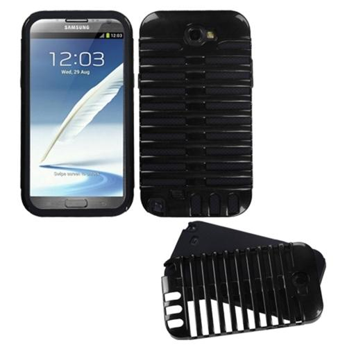 Insten Black/Black Microphone Fusion Case for SAMSUNG: Galaxy Note II (T889/I605/N7100)