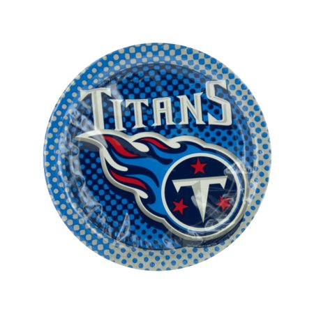 Tennessee Titans Party Plates (Pack Of 18) (Tennessee Titans Party Supplies)