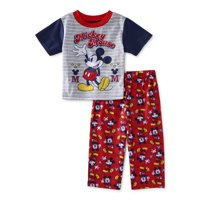 Mickey Mouse Baby Boys Loose Fit Short Sleeve Pajamas, 2pc Set (12M-24M)