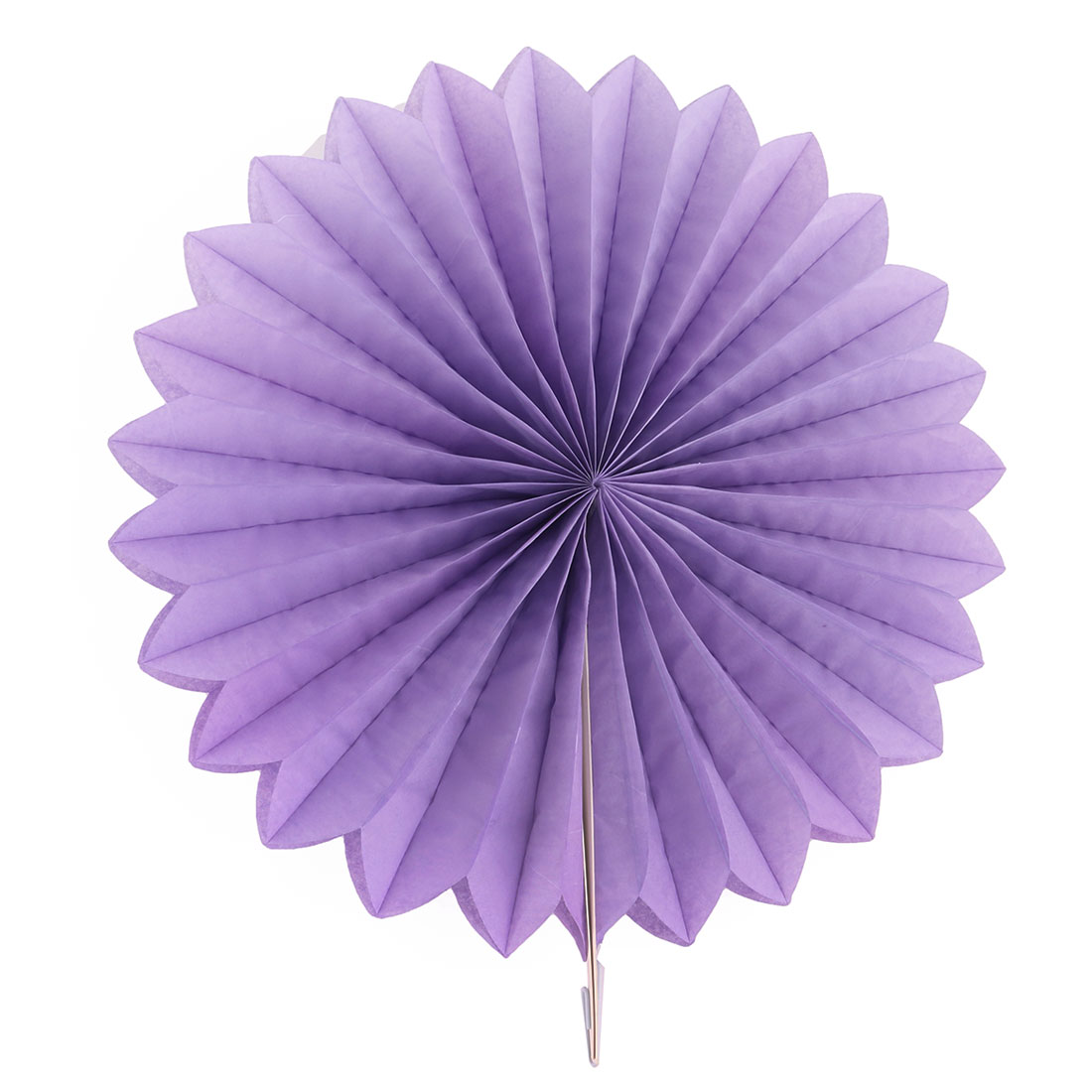 Paper Hollow Out Design Folding Fan Flower Purple for Party Wedding Home Decor - image 4 de 4