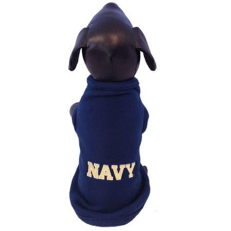 NCAA Navy Midshipmen Cotton Lycra Dog Tank Top XX-Large