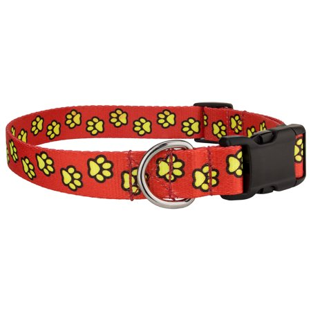 Country Brook Design® Red Busy Paws Deluxe Dog Collar Limited (Fender Deluxe Reverb Limited Edition Wine Red)