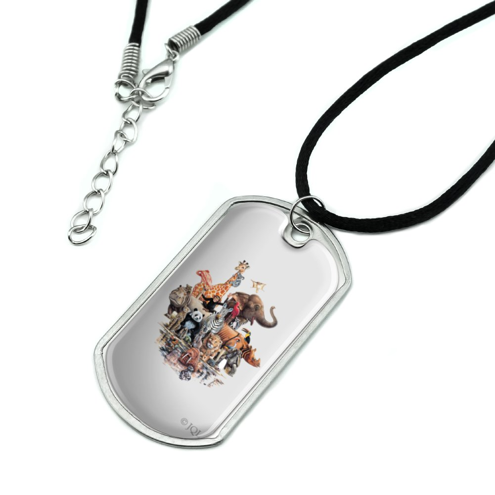 Cute Panda Face Jewelry Military Pendant Brand Necklace Metal Dog Tag