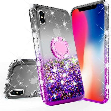 Glitter Cute Phone Case with Kickstand Apple iPhone Xs Max Case Bling  Diamond Bumper Ring Stand Sparkly Clear Thin Soft Girls Women Purple -  Walmart.com e0a15db2f1