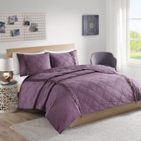 Home Essence Teen Solid Coverlet Set with Fringe