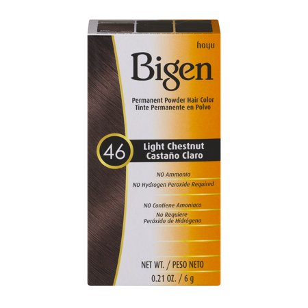 Bigen Permanent Powder Hair Color 46 Light Chestnut  0 21 Oz