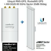 Ubiquiti RM5-GPS, RocketM5-GPS RocketM5 GPS + AM-5G20-90 5GHz Sector 20dBi 90deg
