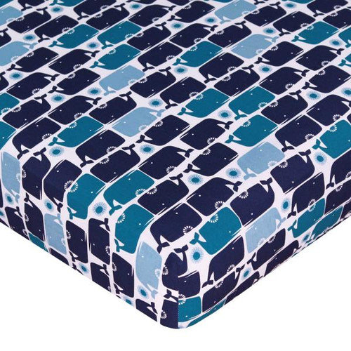 Happy Chic Baby by Jonathan Adler Party Whale Fitted Sheet