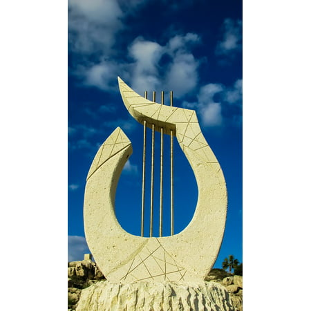 canvas print music cyprus lyre ayia napa sculpture park stretched canvas 10 x 14