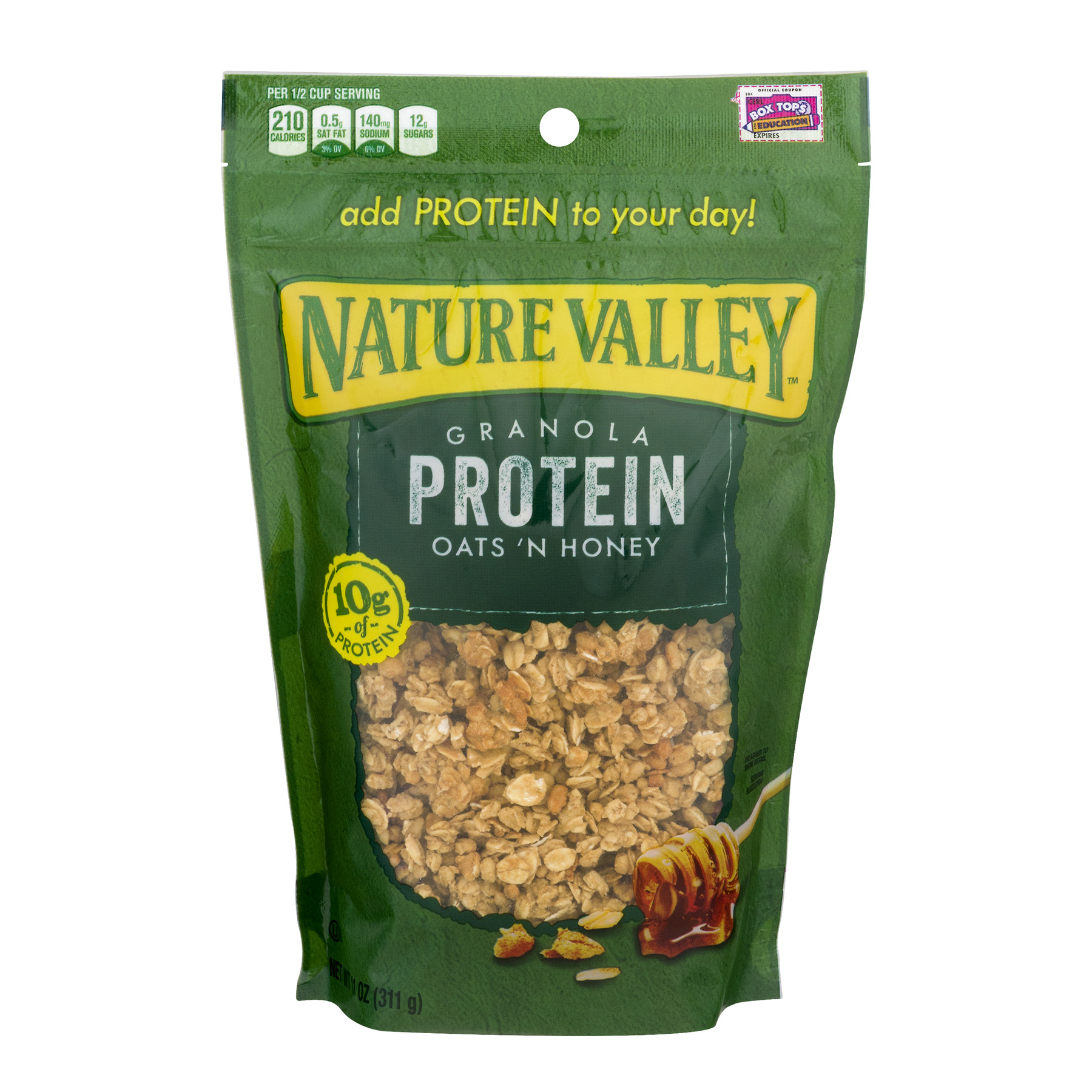 (2 Pack) Nature Valley Granola, Protein, Oats N' Honey, Crunchy Granola Bag, 11 oz