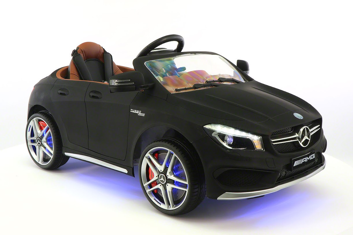 Mercedes Benz CLA45 Kids Ride On Car Toy MP3,USB,12V Bat,Powered Wheels R C Black by