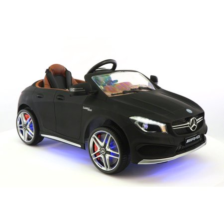Mercedes Benz Cla45 Kids Ride On Car Toy Mp3 Usb 12V Bat Powered Wheels R C Black