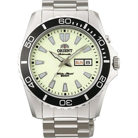 Mechanical Movement Steel Sport Watch - ORIENT FEM75005R9,Men's MAKO,Mechanical Movement,Stainless Steel,Screw Crown,Day,Date,200m WR