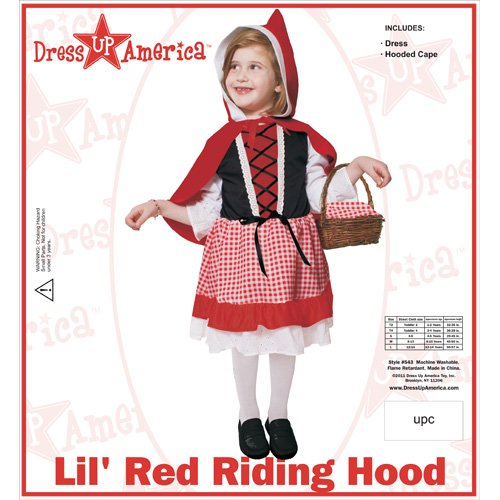 Dress Up America Lil' Red Riding Hood Children's Costume