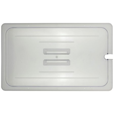- Full Size Notched Cover With Handle For Cold Food Pans Translucent