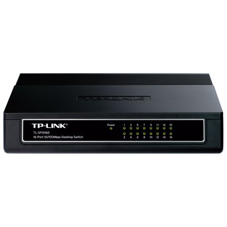 TP-Link TL-SF1016D 16-port Ethernet Switch Switcher - 16 ports - EN Fast EN - 10/100 100Mbps Fast Ethernet LAN Network Switch/Hub