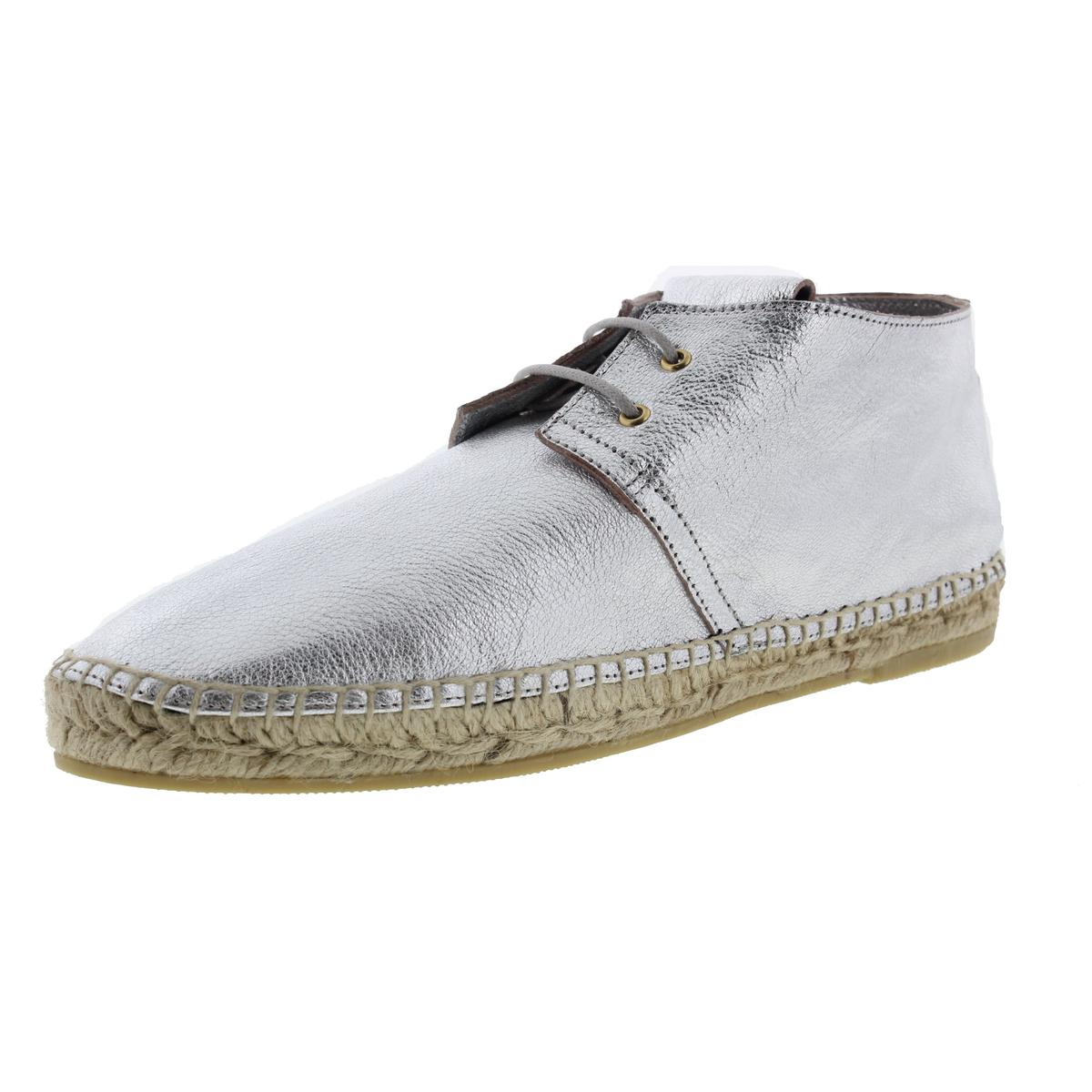 Robert Clergerie Womens Eloise Leather Distressed Espadrilles