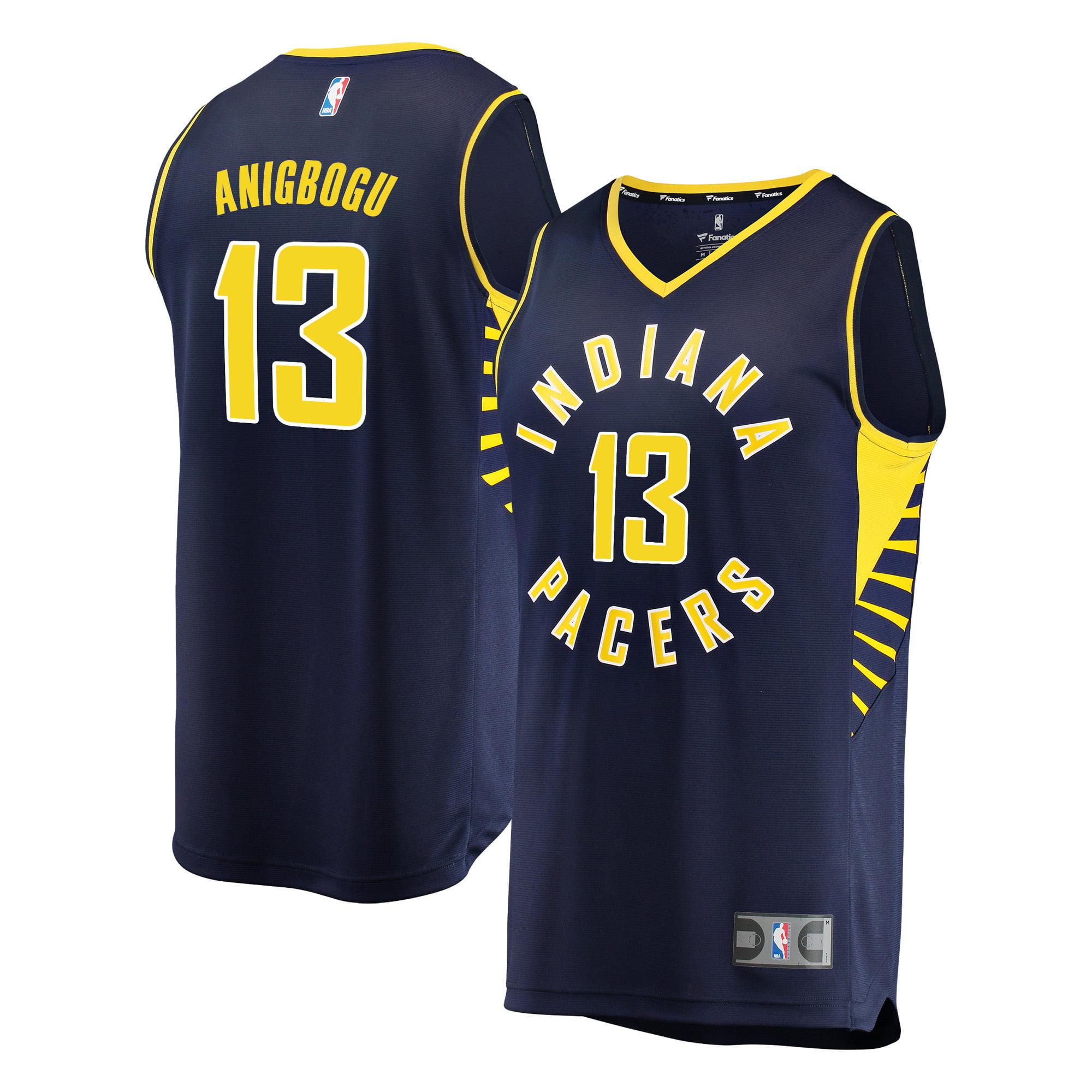 Ike Anigbogu Indiana Pacers Fanatics Branded Fast Break Replica Player Jersey - Icon Edition - Navy