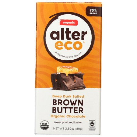 Alter Eco Dark Salted Brown Butter Organic Chocolate Bar, 2.82 Oz (Chocolate Bars Organic)