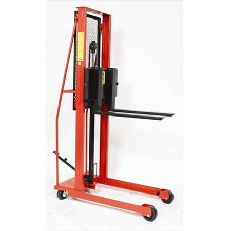 wesco 260049 76 in. h economy hydraulic fork stacker ()