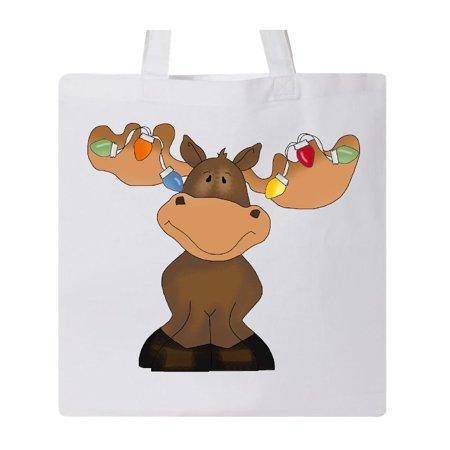 Christmas Moose Lights Tote Bag](Christmas Tote Bags)