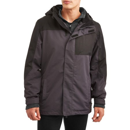 Peak Men's 3 in 1 Systems Jacket with Removable Fleece Jacket, up to size (Spyder Womens Rebel 3 In 1 Jacket)